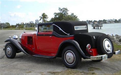 bugatti for sale miami 1929 bugatti type 41 royale binder sedanca replica stock