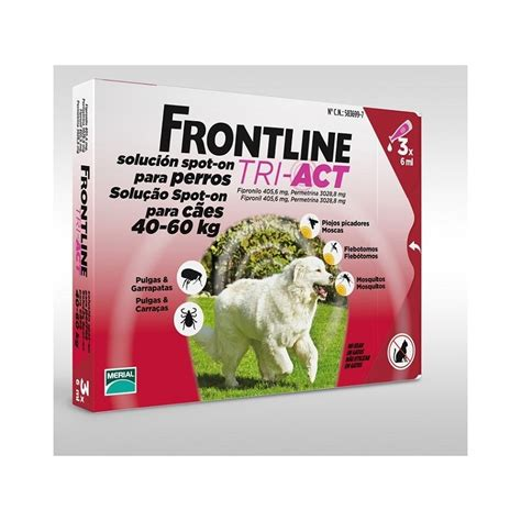 tri for dogs frontline tri act for dogs 40kg 60kg 3 pipettes free shipping