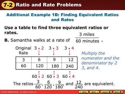 how to do ratio tables objective 6 1 ratios bull run middle math 6