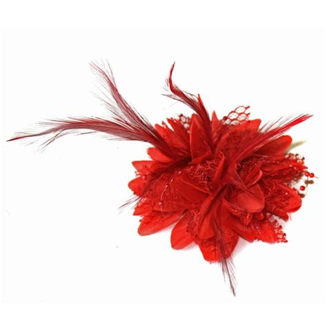 fascinator feather flower cocktail brooch pin hair clip wedding hair vogue brooch pin flower feather bead corsage hair clips