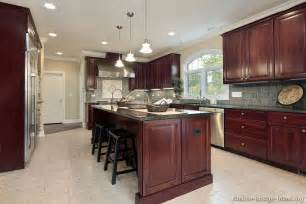 Dark Cherry Kitchen Cabinets Pictures Of Kitchens Traditional Dark Wood Cherry