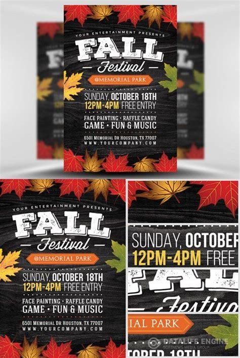 flyer template psd fall festival  fall festival fall