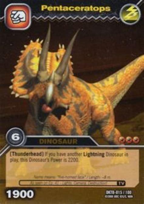 game card pentaceratops dinosaur king tcg series