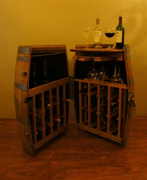 whiskey barrel liquor cabinet cooperage cabinets