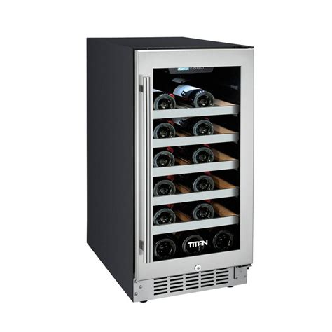 built in wine built in wine fridge titan 25bottle seamless stainless