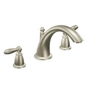 moen brantford brushed nickel faucet moen t933bn brantford brushed nickel tub faucet trim