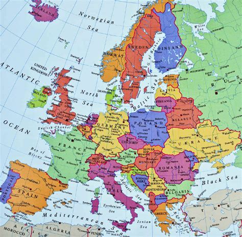 europe map today political organization of space ap hug