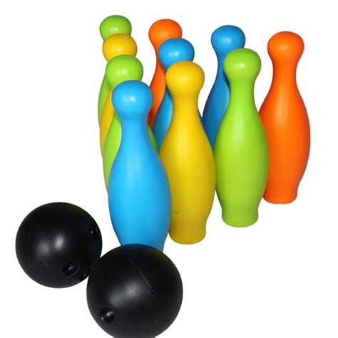 Children Plastic Bowling Toys 17 Cm aliexpress buy safety child 10 bottle pin and 2 plastic 10 inch bowling