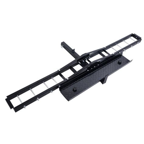 hitch hauler rack steel motorcycle scooter dirtbike carrier hauler hitch mount rack r anti tilt vehicle