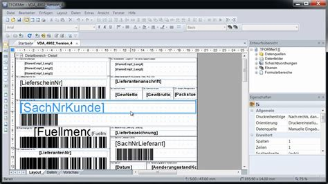 label design software excel vda 4902 labels und klt warenanh 228 nger drucken tformer