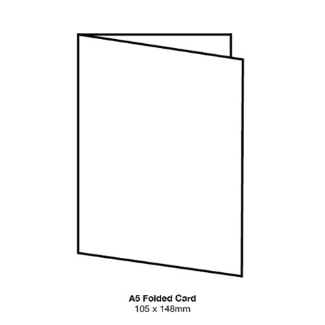a5 folded card template marshmallow a5 folded card 261gsm crisp white