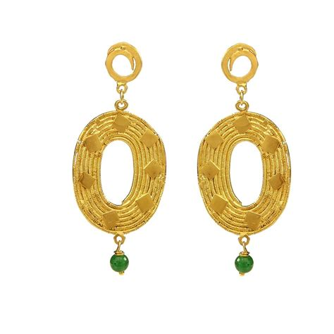 Handmade Fashion Jewelry - handmade fashion jewelry earrings gold plated green