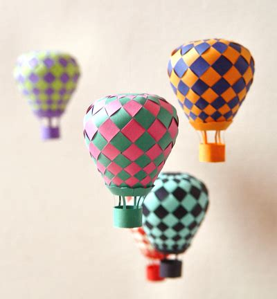 How To Make A Paper Air Balloon - make woven paper balls and more how about orange