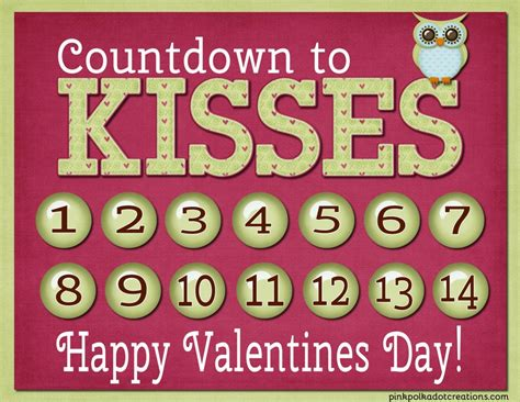Valentines Countdown Valentines Countdown Pink Polka Dot Creations