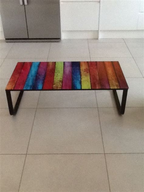 my next home multi coloured glass coffee table my next home