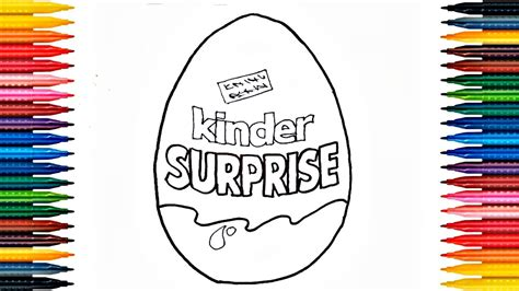 kinder egg coloring pages drawing kinder surprise how to draw surprise egg and