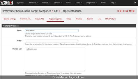 Domain List Squidguard Pfsense