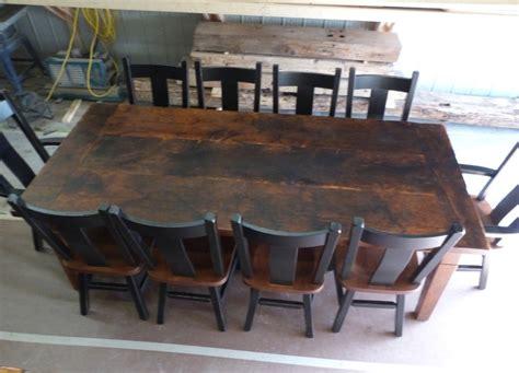 8 foot dining table 8 foot reclaimed threshing floor harvest table harvest