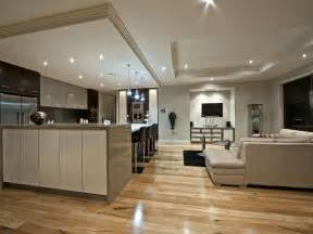 Kitchen And Living Room Design Modern Kitchen Living Kitchen Design Using Floorboards