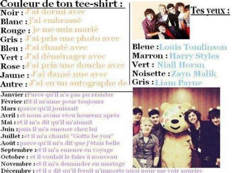 one direction test test ta source sur les one direction