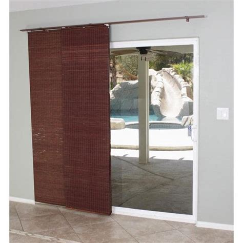 Sliding Glass Door Privacy Mahogany Flat Privacy Panel Track Sliding Shade 15622605 Overstock Shopping Great