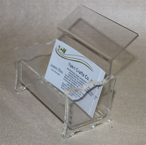 Reel Stand Acrylic business card holder counter brochure stand plexiglass