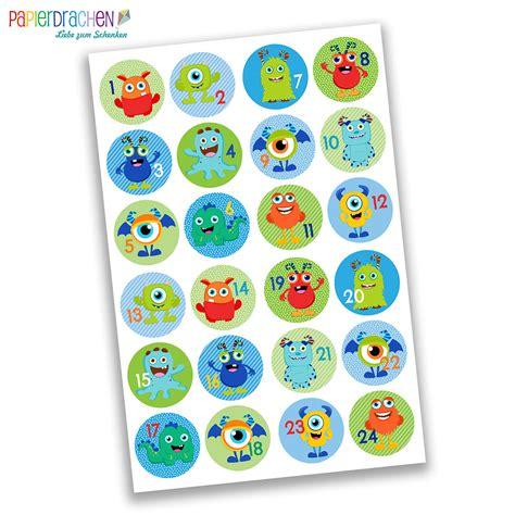 Sticker Zahlen Adventskalender by 24 Adventskalender Zahlen Sticker Nr 29