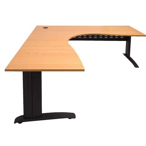 Office Works Corner Desk Rapidline Corner Desk 1800 X 1500 X 700mm Beech And Black Officeworks
