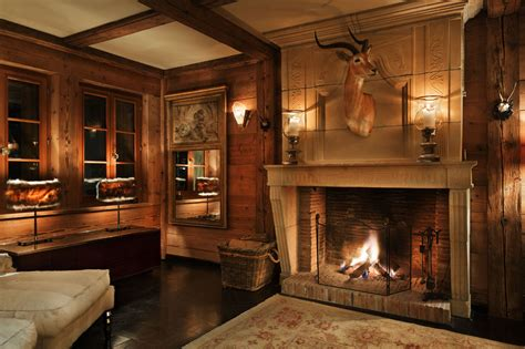 Chalet Fireplace by Chalet Truffe Blanche Verbier Alpine Guru