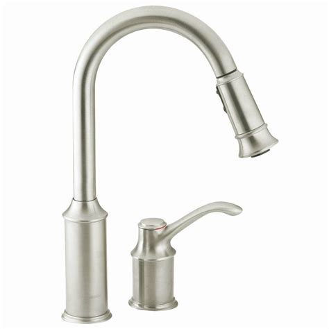 moen stainless steel kitchen faucet moen aberdeen single handle pull sprayer kitchen