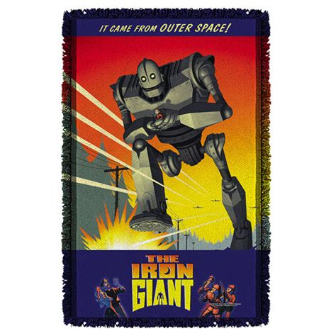 iron giant bathroom iron giant it came from space woven tapestry throw blanket