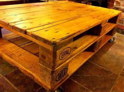 Diy Pallet Coffee Table Wheels Amazingly Made Pallet Coffee Table 101 Pallets