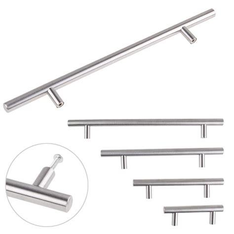 stainless steel kitchen cabinet handles stainless steel t bar kitchen cabinet cupboard drawer pulls knobs door handles ebay