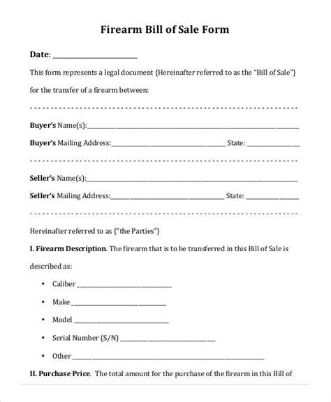 Printable Blank Bill Of Sale Template 9 Free Word Pdf Documents Download Free Premium Firearm Bill Of Sale Template
