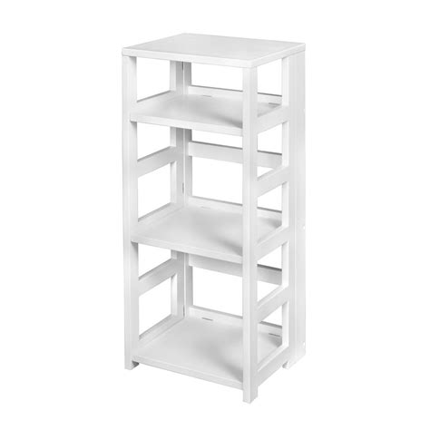 folding bookcase white hton bay 3 shelf standard bookcase in white thd90003 1a of the home depot