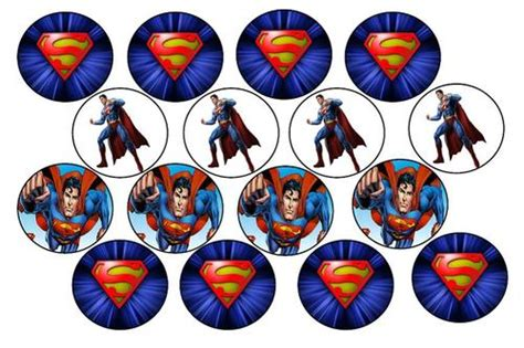 Cupcake Topper Superman 5 cake decorating superman edible picture cupcake toppers was sold for r22 50 on 5 dec at 23 47