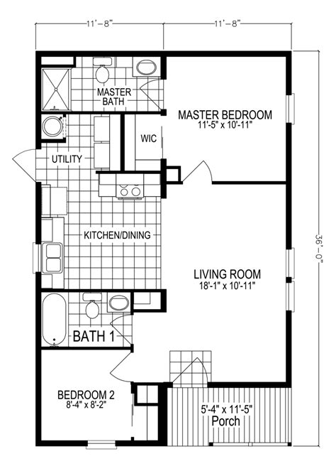 view sunflower floor plan for a 779 sq ft palm harbor