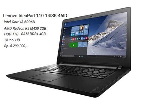 Laptop Asus Buat Gaming 3 Jutaan lenovo ideapad 110 14isk 46id laptop gaming dan grafis 5 jutaan i3 6006u amd radeon r5 m430