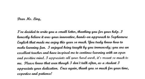 Thank You Letter To My Biology Summer Send For Those Who Teach Those Who Teach