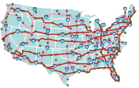 printable us map with interstate highways map of us interstates map of major interstates in us map