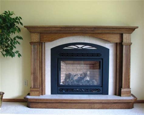 recessed mantel package with wall tile and raised tiled