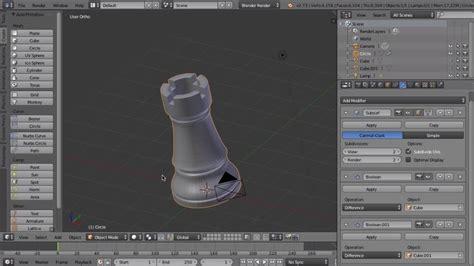 blender 3d models s blender tutorial creating a chess for 3d printing