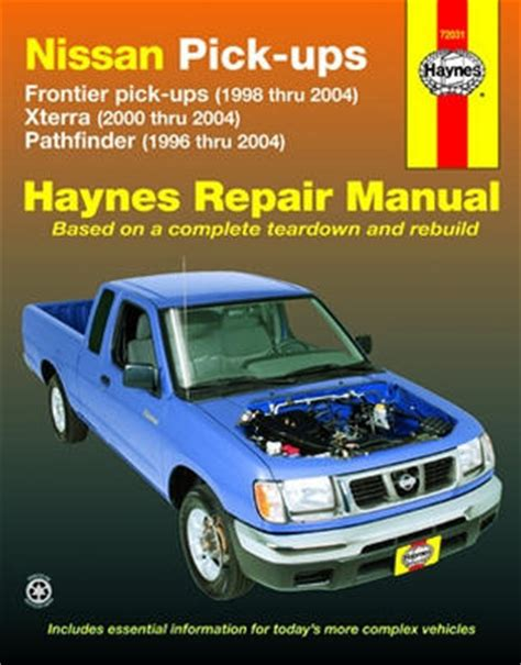 auto repair manual online 2003 nissan xterra parental controls nissan frontier xterra pathfinder haynes repair manual 1996 2004 hay72031