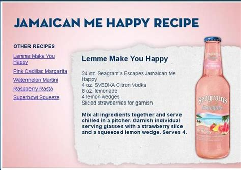 Happy Hour Green Machine Vodka by Jamaican Me Happy Recipe Cheers Happy And
