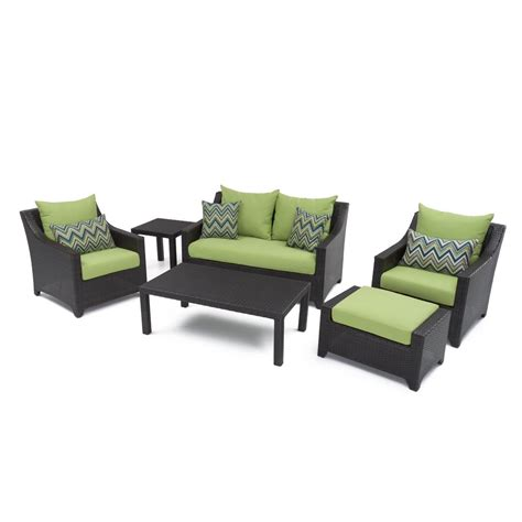 Patio Cushions Green Rst Brands Deco 6 Patio Seating Set With Ginkgo