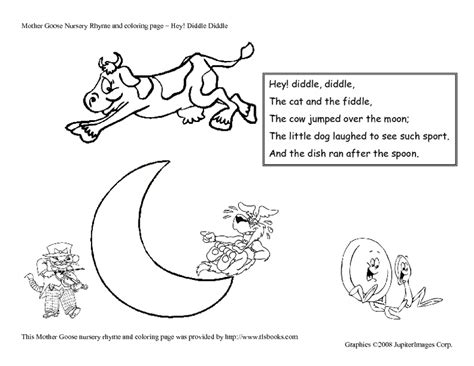free coloring pages of hey diddle diddle fiddle