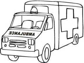 ambulance coloring pages getcoloringpages