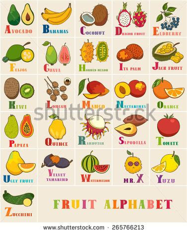 a z name that fruit and vegetable books stock images similar to id 124680835 a vector
