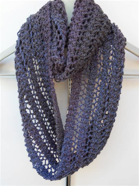 knit lace scarf shades of purple infinity scarf knit knitted lace