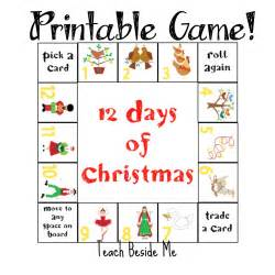 12 days of christmas game teach beside me